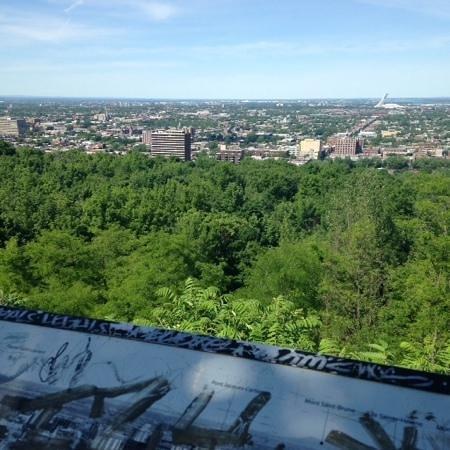 Mont Royal : montreal vue de haut