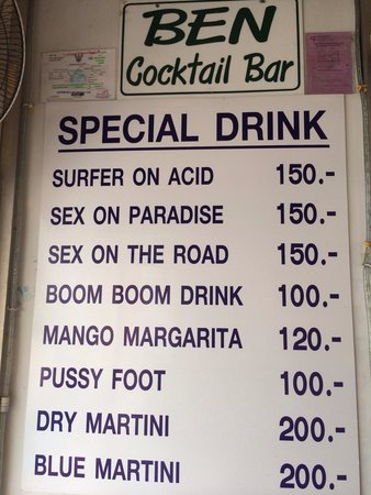 Ben's Cocktail Bar: Special drink