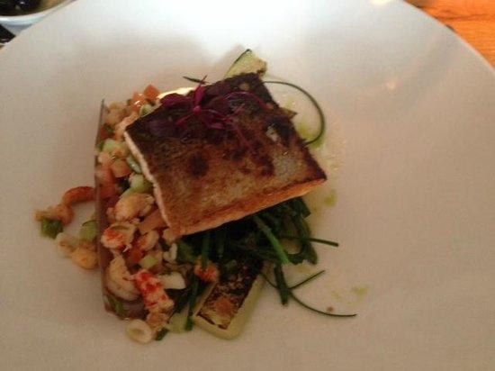 Tower Restaurant : Trout main course