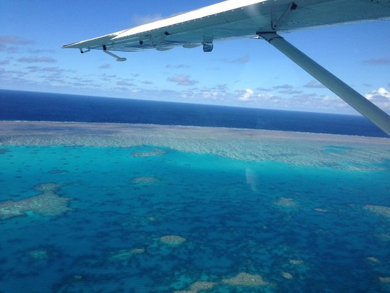 Air Whitsunday Day Tours: Coming in to land on the water - smooth as!