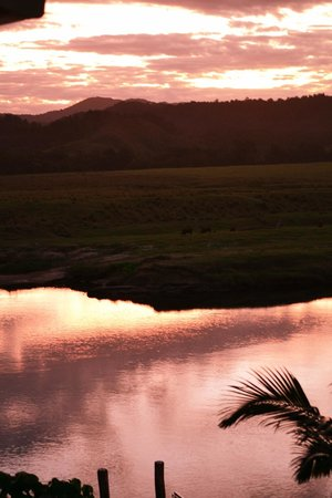 Daintree Riverview Lodges & Camp Ground: Sunset on the river