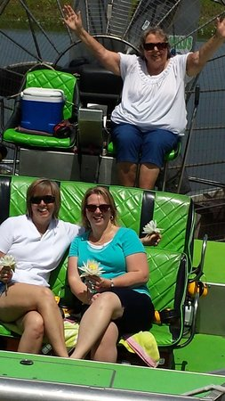 Wild Willy's Airboat Tours: Mom in the captain's chair