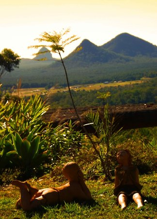 Uluramaya Retreat Cabins : Sweet clay children enjoying the winter sun
