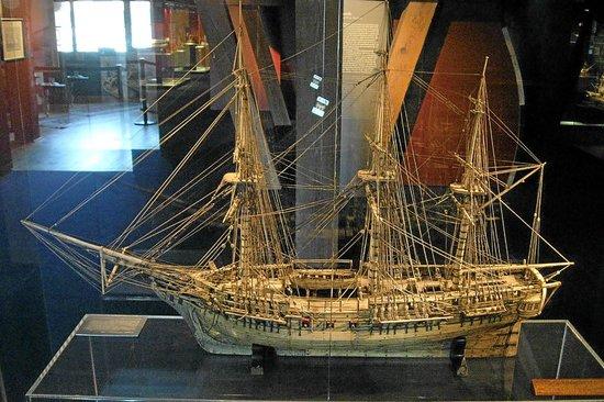 International Maritime Museum: One of the impressive older model ships