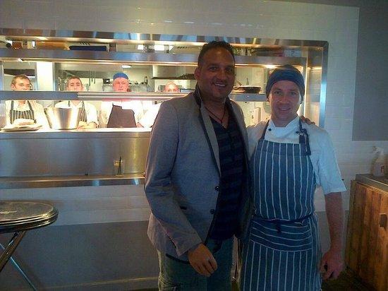 South Beach Cafe: Head Chef Neil meeting Michael Cain