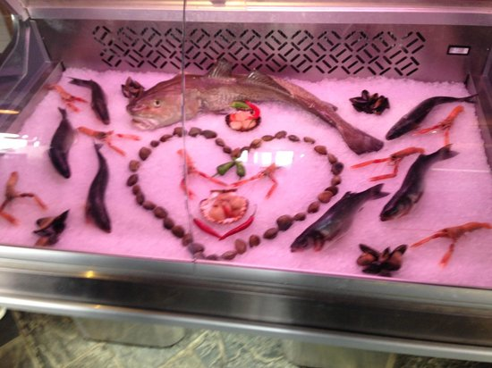 South Beach Cafe: Fish counter display