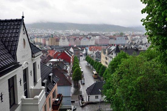 Skansen Pensjonat : Panorama of the Bergen center