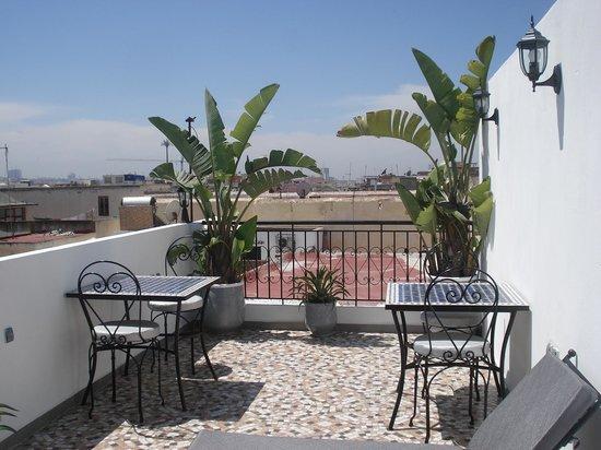 Riad Marlinea : la terrasse