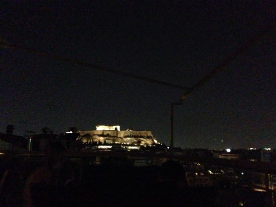 Acropolis Ami Boutique Hotel: View at night