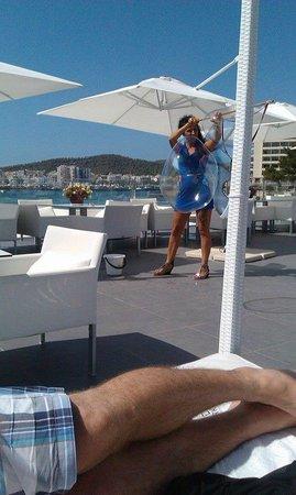 Marina Playa Hotel & Apartments: Entertainment at a Pool Party