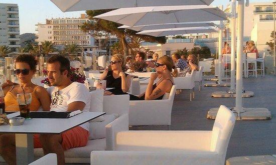 Marina Playa Hotel & Apartments: Sunset from the terrace