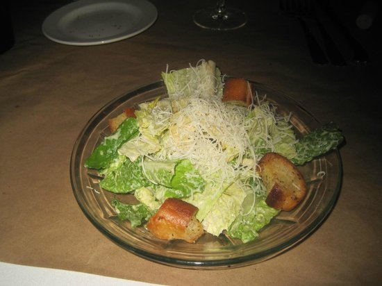Kruse & Muer Wilshire: Caesar salad, Kruse and Muer on Wilshire, Troy, MI, July 2014