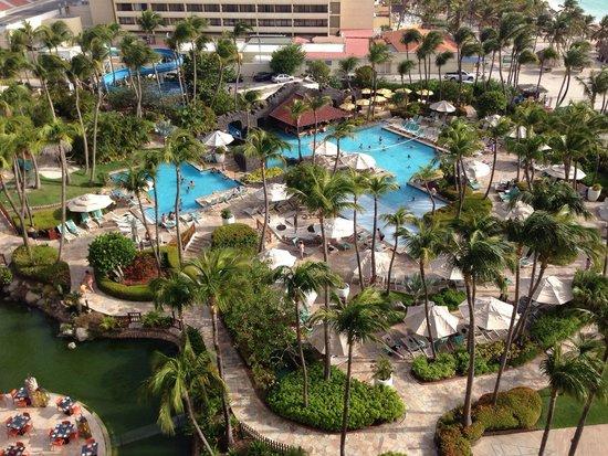 Hyatt Regency Aruba Resort and Casino: Another guest room view overlooking the pool
