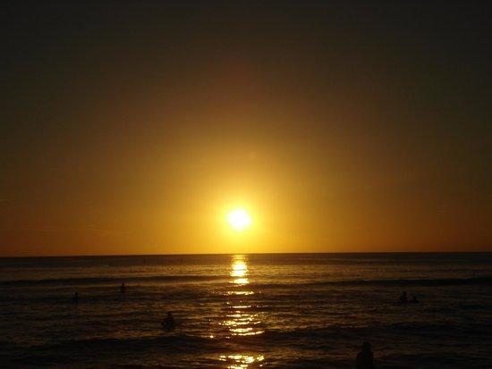 Viva Wyndham Dominicus Beach: Puesta de sol al atardecer