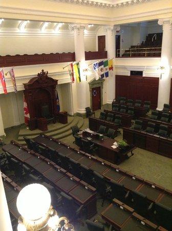 Alberta Legislature Building: inside the chambers