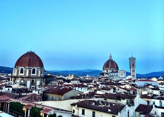 Grand Hotel Baglioni Firenze: View from roof top