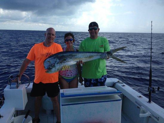 Cheap Fishing Key West: 54lb Mahi.