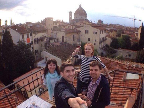 Hotel Cardinal of Florence: At the rooftop