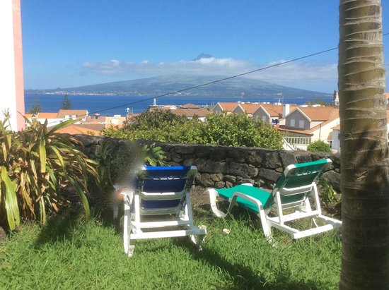 Verde Mar : Private, grassy area overlooking Horta Harbor and Pico