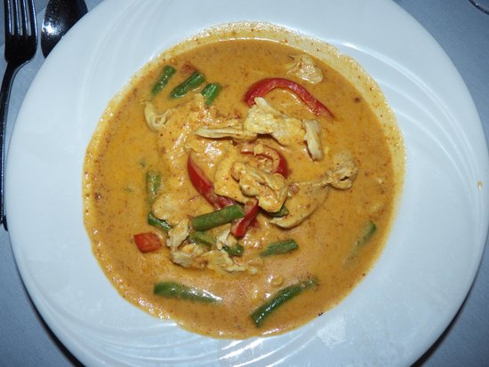 Thai Thai: Panang Curry -Choice of chicken, pork, beef in panang curry ...