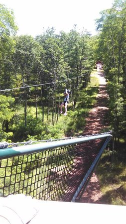 Bigfoot Zipline: Our 5 year old was so brave!