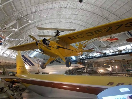 Smithsonian National Air and Space Museum Steven F. Udvar-Hazy Center: Piper J3 Cub, the plane my father soloed in