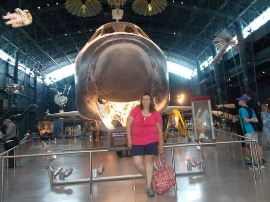 Smithsonian National Air and Space Museum Steven F. Udvar-Hazy Center: Me and the space shuttle