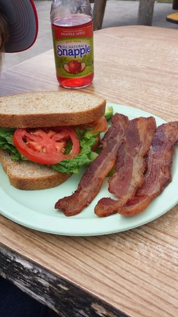 Dornan's Chuckwagon: BLTA comes with a side. Look at that bacon!