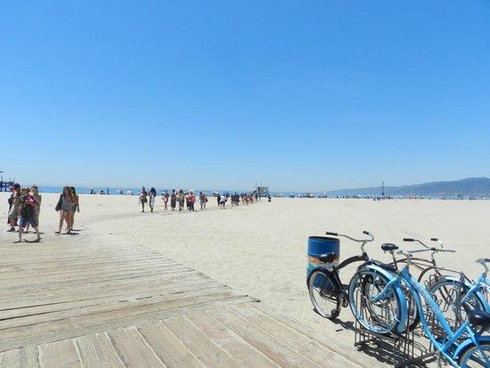 Santa Monica State Beach: Praia agradavel em Santa Monica, California, USA