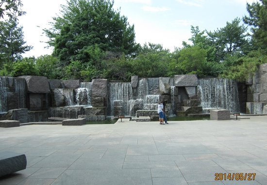 Franklin Delano Roosevelt Memorial : a portion of the FDR Memorial