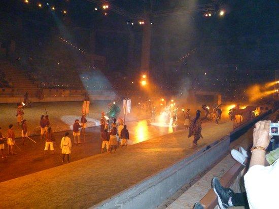 Xcaret Eco Theme Park: spectacle de fin de soirée merveilleux