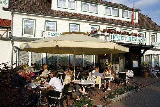 Hotel Riemann: Terrasse