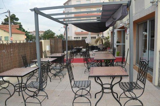 Hotel La Fregate : la terrasse