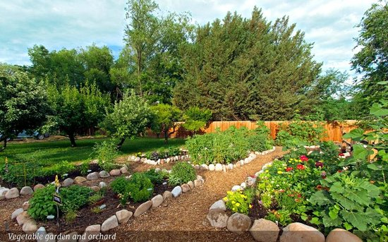 Sunflower Hill, A Luxury Inn : Vegetable gardens and orchard