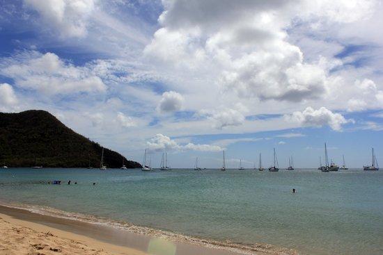 blu St Lucia : Beach 5 minutes walk from Blu hotel