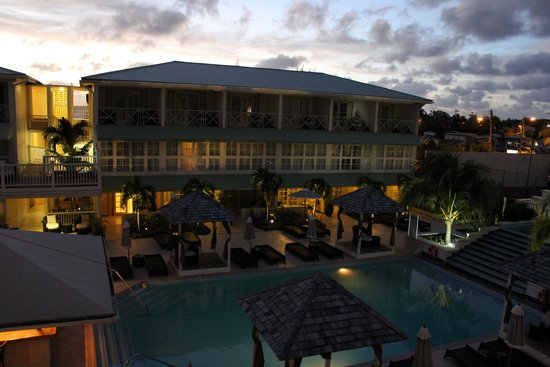 blu St Lucia : View from our balcony at dusk