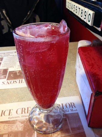 Wilson's Restaurant: genuine raspberry phosphate