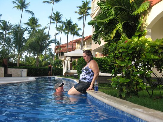 Majestic Elegance Punta Cana: this is me trying to get out of the pool. Hence the reason why they need steps on our side were