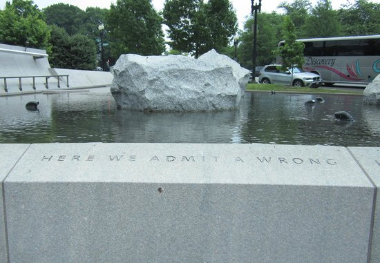 National Japanese American Memorial: Here we admit a wrong