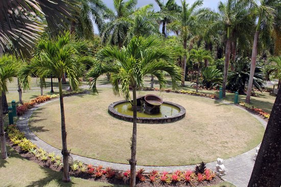Botanical Gardens of Nevis : View from cafe in Nevis Botanical Gardens