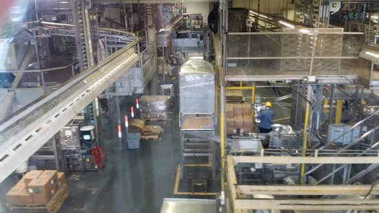 Mauna Loa: View of Factory Floor on Self-Guided Tour