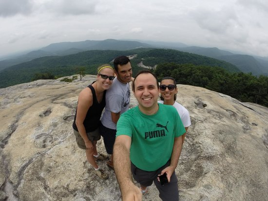 Cana, VA: The summit of Stone Mountain at Stone Mountain State Park, NC.