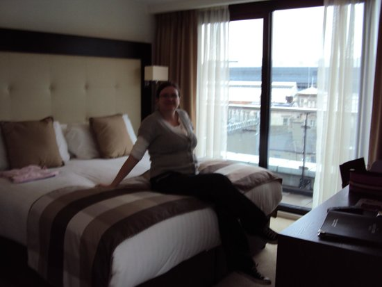 North Star Hotel: Me relaxing in our suite on arrival.