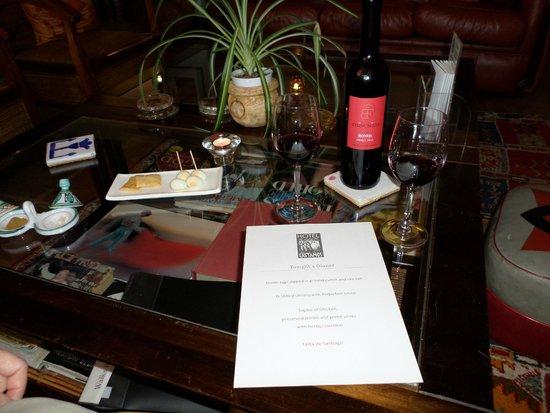Hotel Los Castanos : Dinner menu