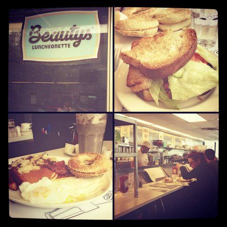 Beauty's Restaurant: Brunch et Sandwich salade poulet