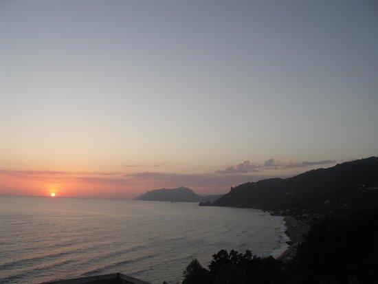 Mayor La Grotta Verde Grand Resort: View of sunset from room balcony