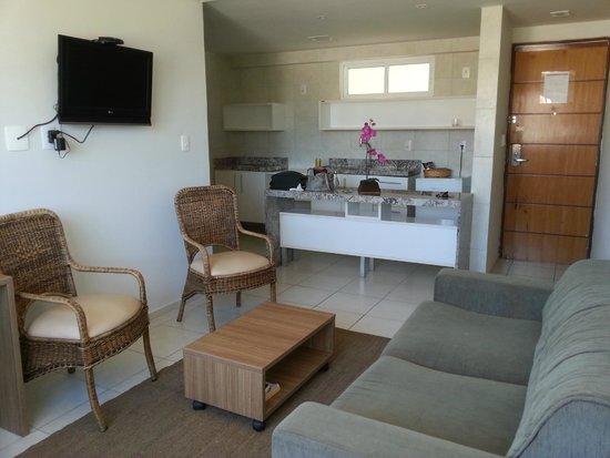 Quality Hotel Solmar : Sala e cozinha