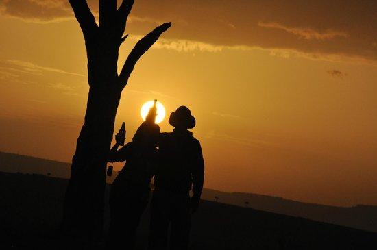 Porini Lion Camp: Picture taken by Big John on sun downer