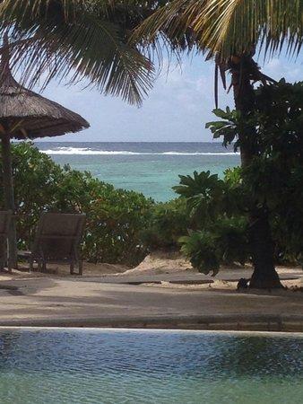 La Palmeraie Boutique Hotel : Vie sur le lagon du restaurant