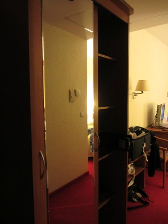 Ambassador Hotel: Wardrobe closet with shelves, safe, long-length mirror